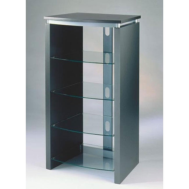 AT HOME by O Metallic Grey Matte Lacquered Audio Rack at Sears.com