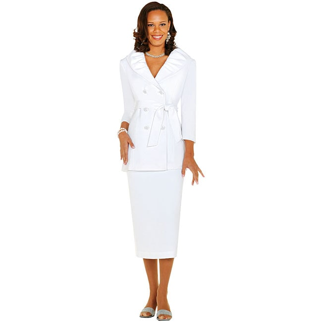 nubiano s white 2 skirt suit 11946610