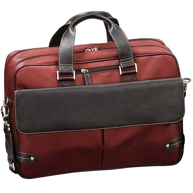 Biltmore Rust Leather Briefcase Laptop Case