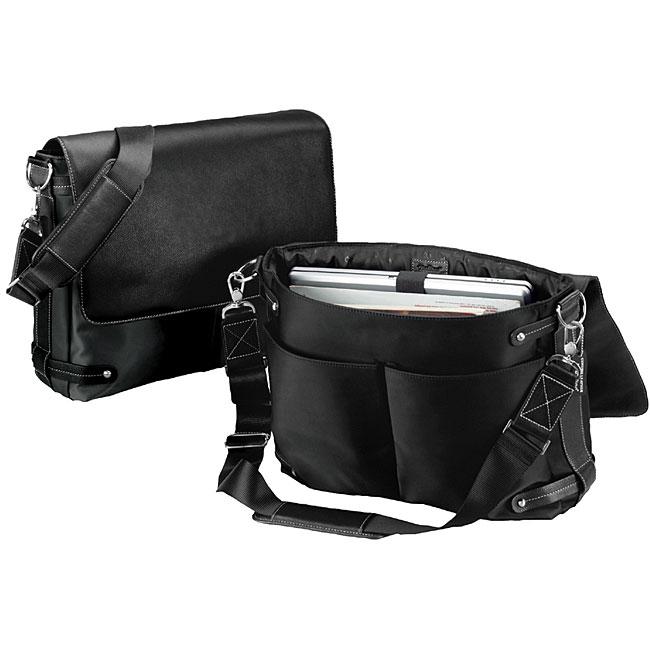 Biltmore Black Flap Over Briefcase Laptop Case