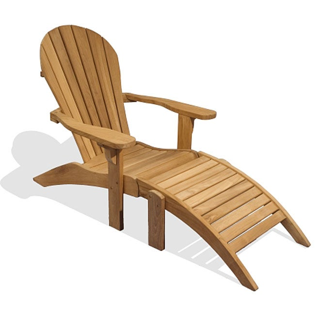 Biarritz teak adirondack lounge chair 11957927 for Adirondack chaise