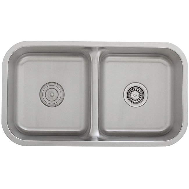 Ticor Stainless Steel 16-gauge Low Divide Undermount Kitchen Sink