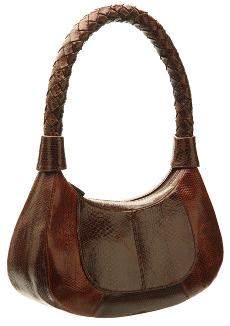 Nina Raye Brown Two-tone Handbag