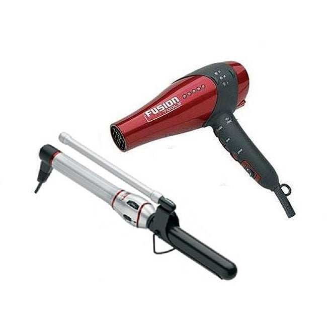 Fusion Tools 1-inch Curling Iron and Hair Dryer Combo