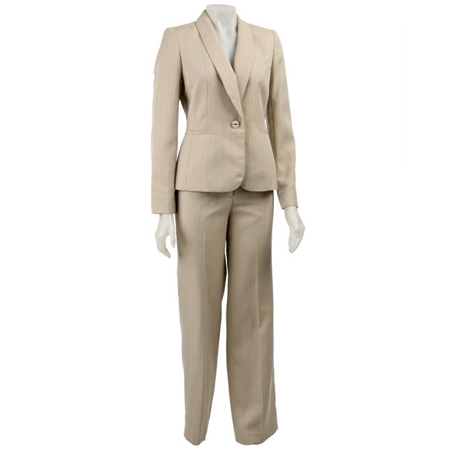 Jones New York Women's Khaki 2-piece Pant Suit