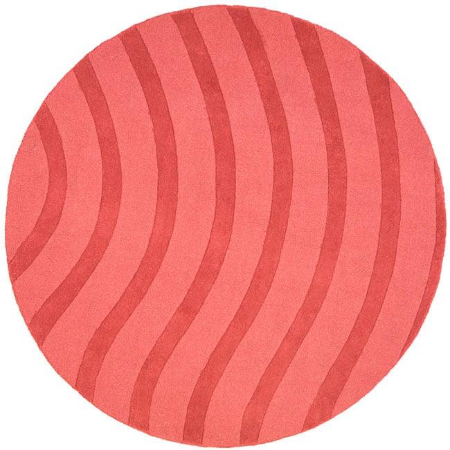 Rose Waves Wool Rug (8' Round)