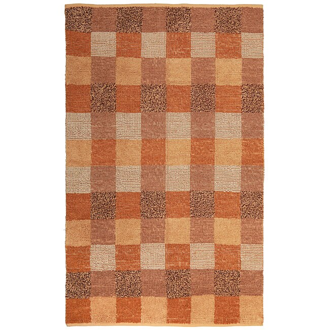 Orange checkerboard rug 5 39 x 8 39 11961751 shopping great deals on 5x8 6x9 - Checkerboard area rug ...
