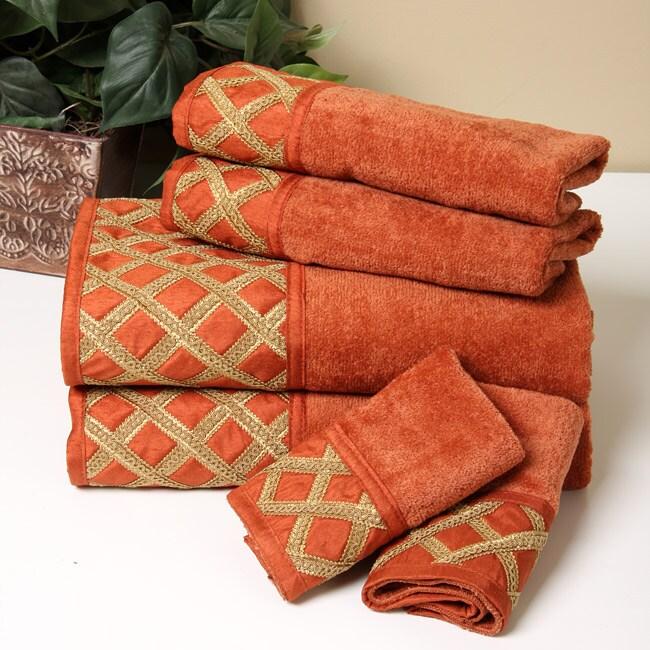 Avanti 'Chelsea' Terracotta Towels (Set of 6)