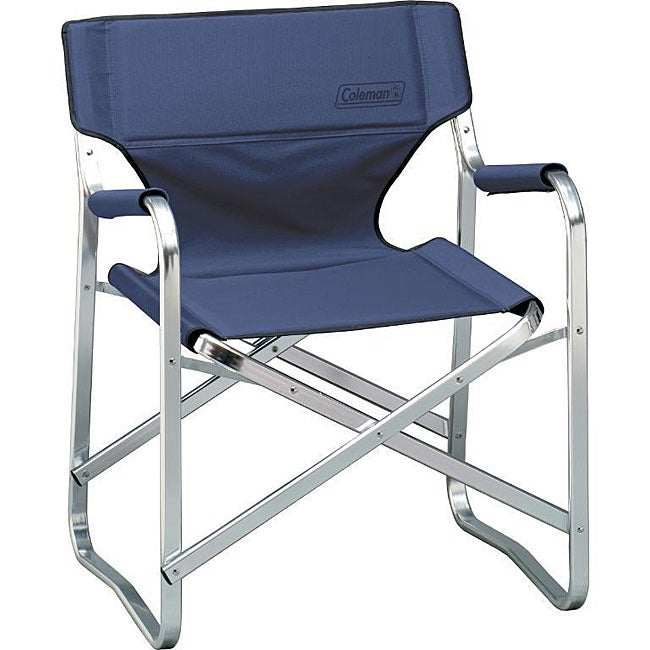 Coleman Blue Portable Deck Chair 11968005 Overstock
