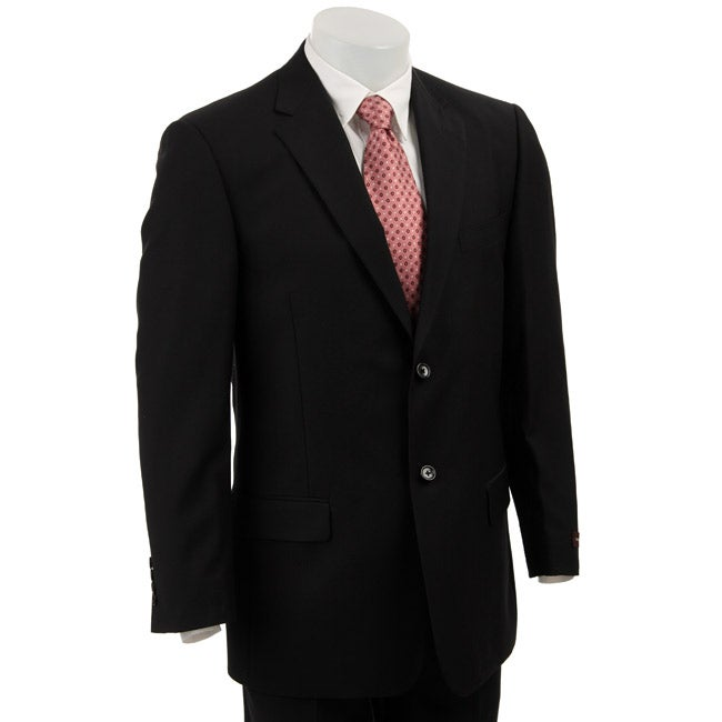 bcbg attitude s black wool 2 button suit overstock
