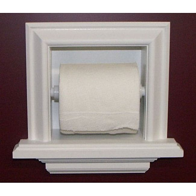 Recessed toilet paper holder with ledge 11970563 shopping big discounts on - Ceramic recessed toilet roll holder ...