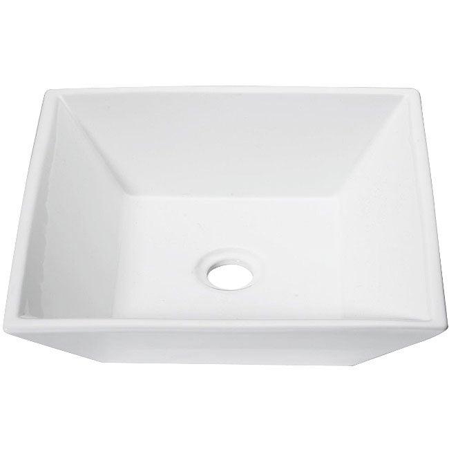 DeNovo Modern Square Porcelain Vessel Sink