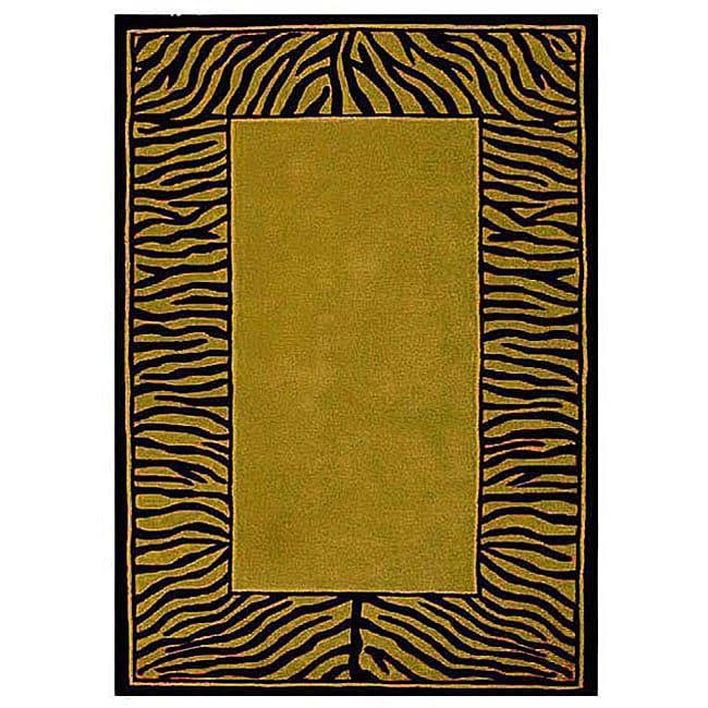 Tiger Stripe Mustard/ Black Rug (5' X 8')