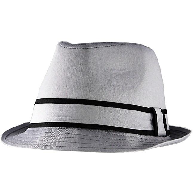 Yesac Unisex Light Grey Fedora Hat