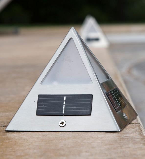 Solar Lights Home Bargains: Pyramid-shaped Solar Deck Light