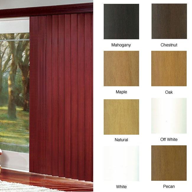 ProWood Faux Wood Vertical Blinds (106 in. W x Custom Length)