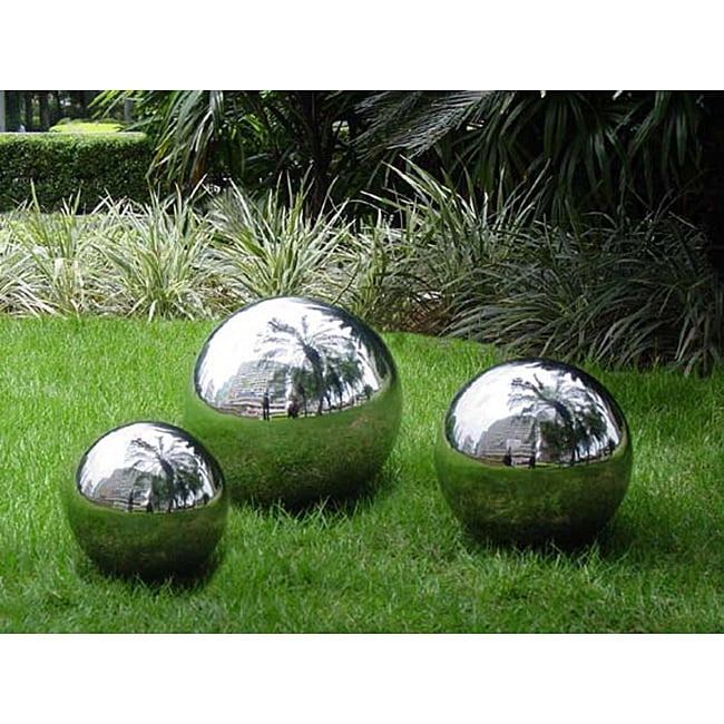 Stainless Steel 10-inch Gazing Ball