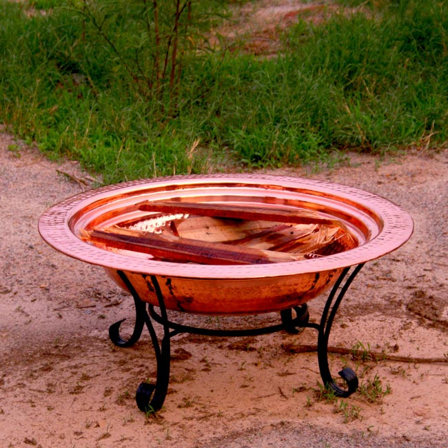 Unique Arts 24-inch Copper Firepit