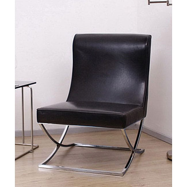 Milano Black Leather Lounger Chair