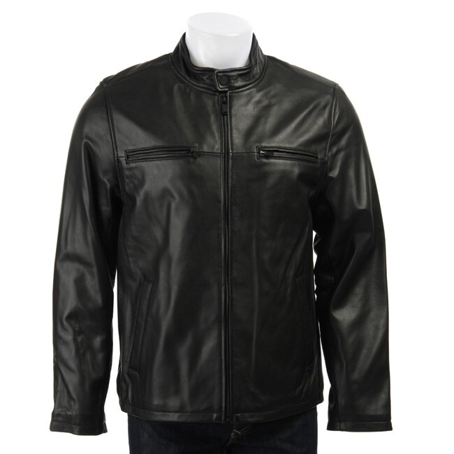 Guess Mens Leather Jacket Guess Men's Leather Moto