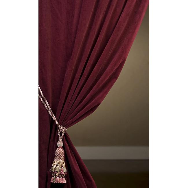 Maroon Cotton Velvet 96-inch Curtain Panel - Overstock™ Shopping ...