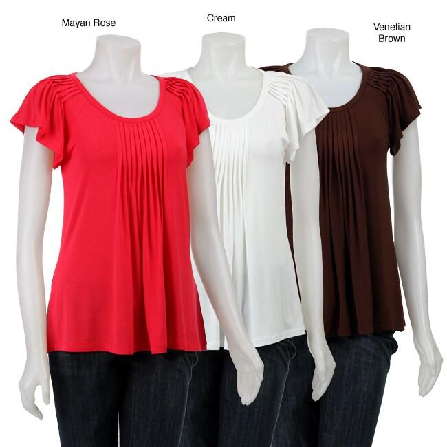 August Silk Women's Pleated Top