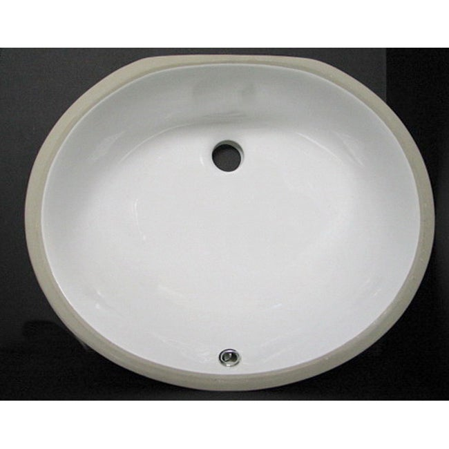 DeNovo Porcelain 17x14 Oval White Undermount Bathroom Sink - Overstock ...