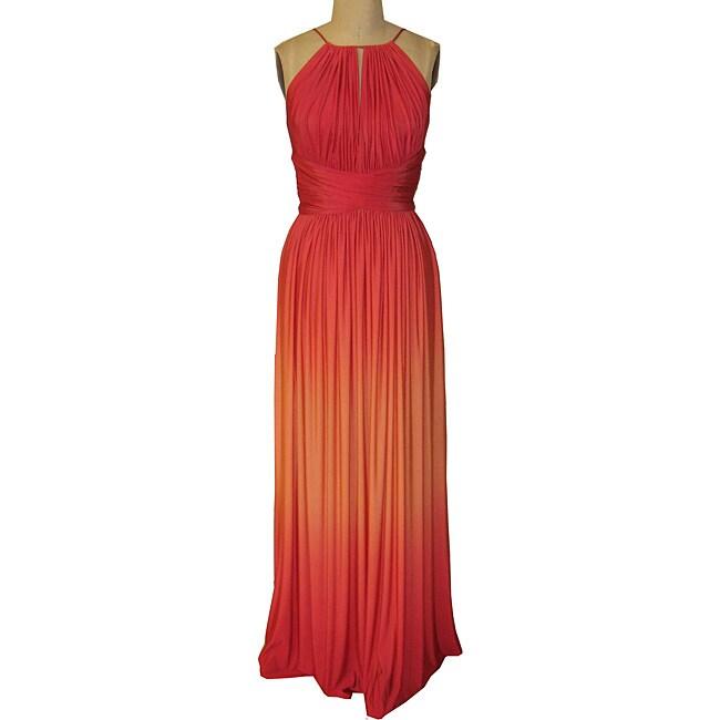 Maggy London Womens Shiny Jersey Maxi Dress