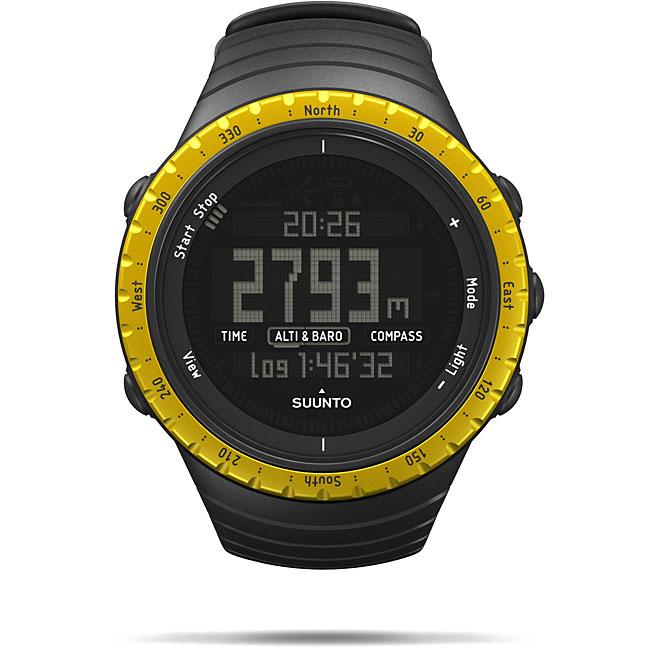 Suunto Core Men's Black/ Yellow Altimeter Watch
