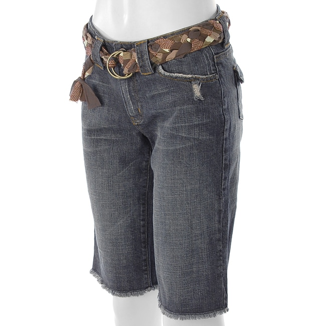 Apt. 9 Women's Distressed Belted Bermuda Shorts