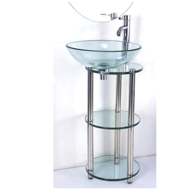 Kiliv Bathroom Vessel Sink Vanity Pedestal - 12013459 - Overstock.com ...
