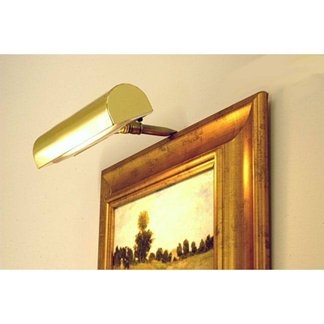 Polished Brass Cordless Picture Light