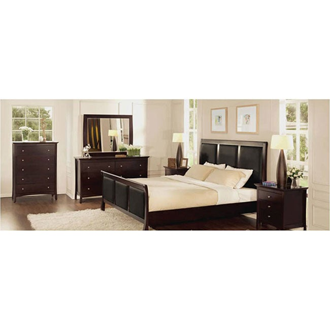 modern collection 3 piece queen bedroom furniture set 12019937