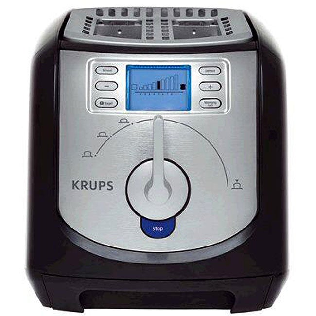 Krups Countertop Oven : Krups KH734D Silver 4-slice Toaster with Brushed and Chrome Stainless ...