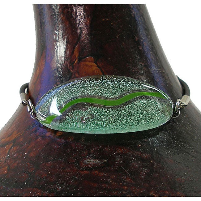 Oval Aqua Glass Bracelet (Chile)