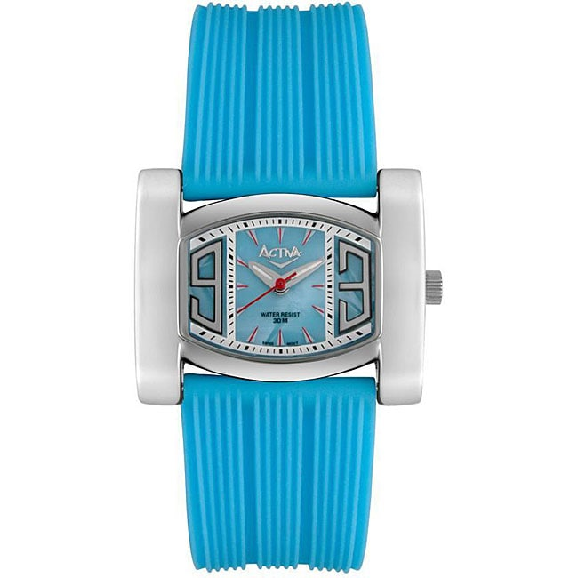 Activa by Invicta Women's Blue Rubber Strap Watch