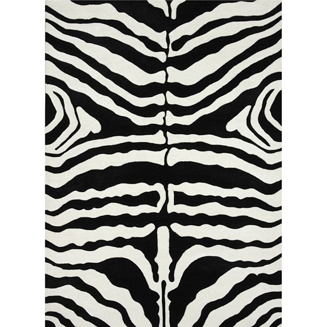Zebra Pattern Rug (5' X 7'6)