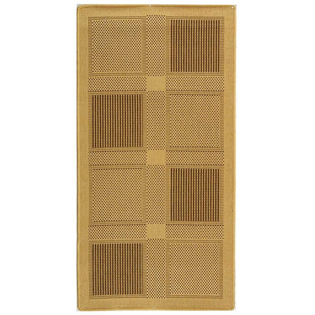 Safavieh Indoor/ Outdoor Lakeview Natural/ Brown Rug (2'7 x 5')