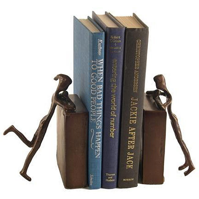 'People Peeking' Set-cast Aluminum Bookends (Set of 2)