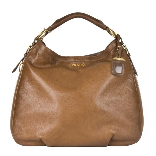 Prada \u0026#39;Cervo Antik\u0026#39; Hobo Bag - 12032107 - Overstock.com Shopping ...