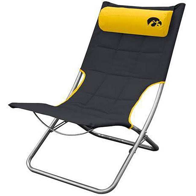 University of Iowa Folding Lounge Chair Overstock Shopping