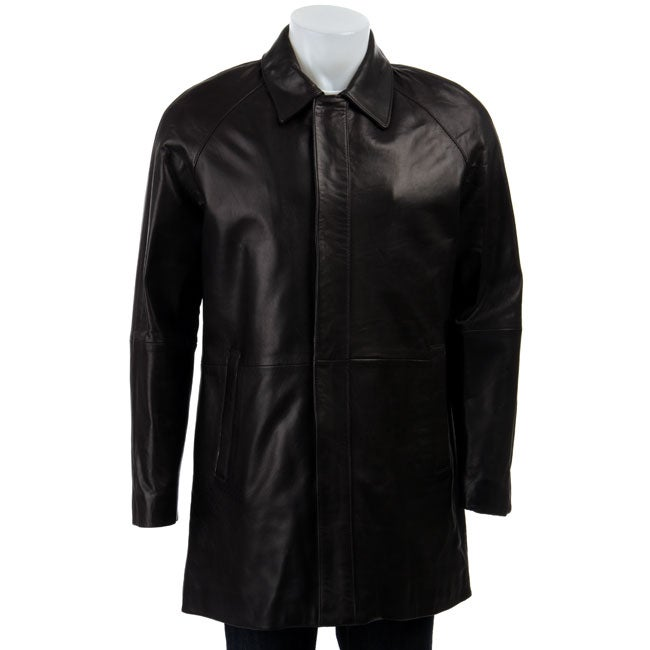 Cole Haan Men's Lambskin Leather Car Coat