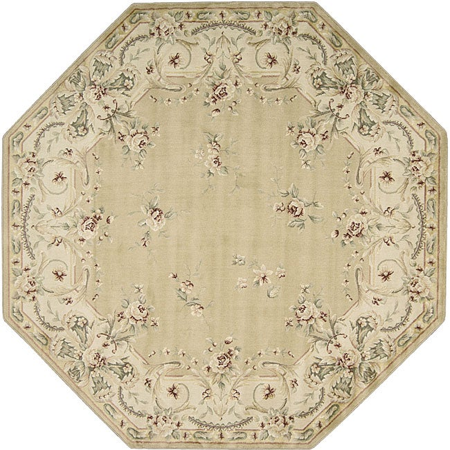 Nourison Brentwood Gold Wool Rug (7'10 Octagon)