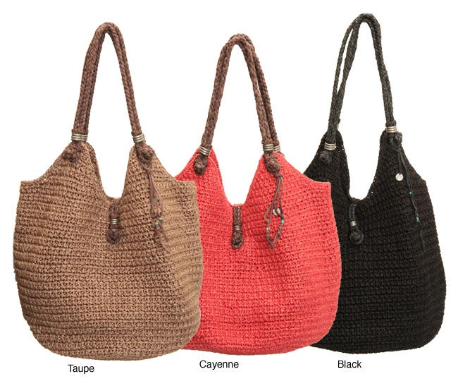 The Sak Indio Crocheted Large Tote Bag - 12038172 - Overstock.com ...
