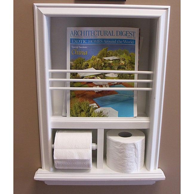 In-wall Bevel-framed Magazine Rack/ Toilet Paper Holder