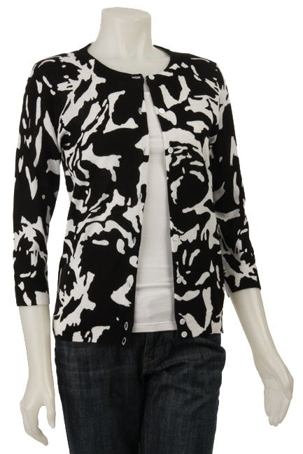 Philosophy Women's 3/4-sleeve Printed Cardigan