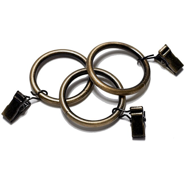 Oil Rubbed Bronze Curtain Clip Rings Pack Of 7 12058209 Shopping Great