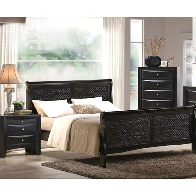 Black Candy 3 Piece Queen Size Bedroom Furniture Set