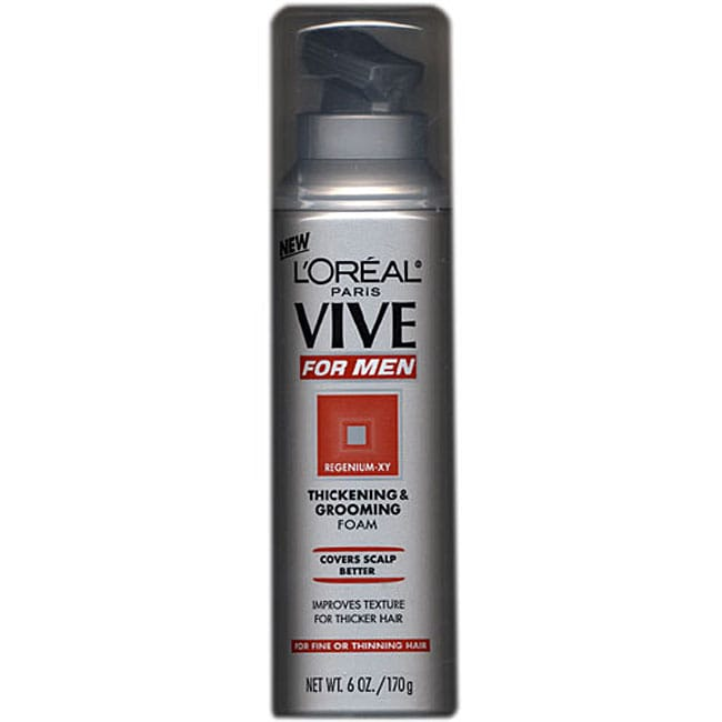 L 39 oreal vive men 39 s 6 ounce thickening grooming foam for Loreal salon hair products