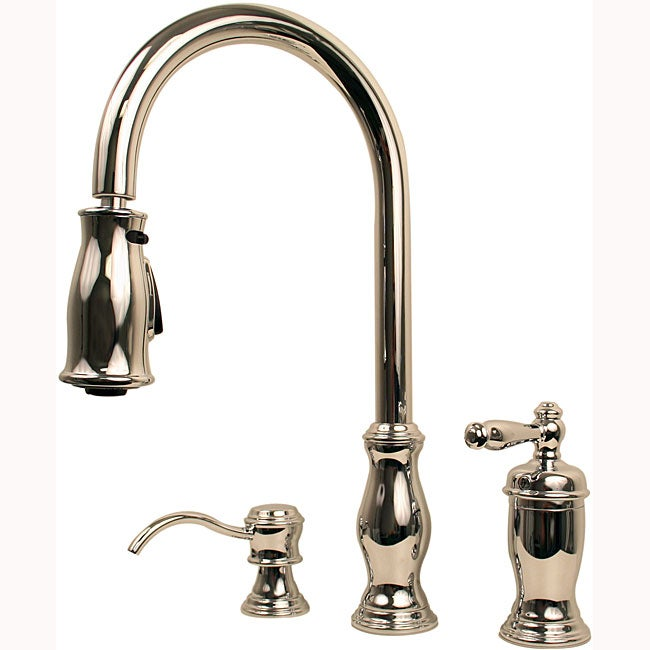 Price Pfister Polished Chrome Kitchen Hanover 1 Handle Pull Down Faucet Overstock Shopping
